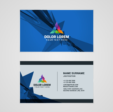 template company business cards set vector