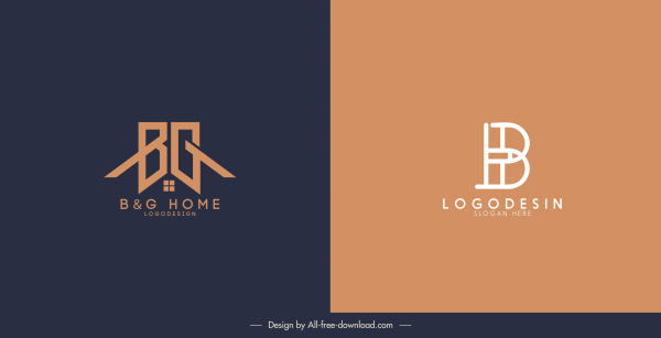 texts logo templates flat classic decor
