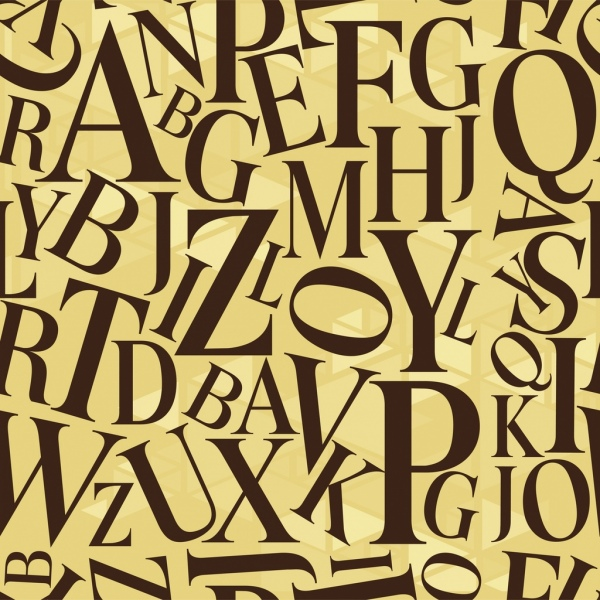 texts pattern modern flat design capital lettering ornament
