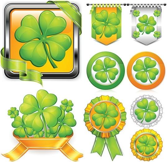 texture clover theme vector