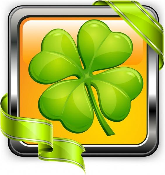 ecological background modern shiny green leaf 3d ribbon