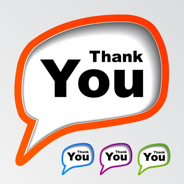 thanking labels templates modern speech bubbles shapes