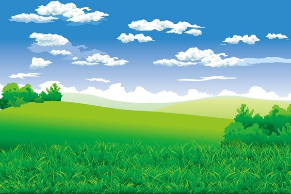 the beautiful countryside scenery vector
