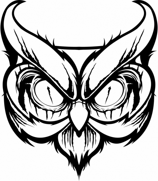 The Black Owl Free Vector In Coreldraw Cdr Cdr Format Format