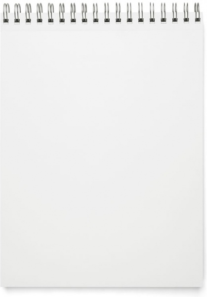 the blank notepad psd layered