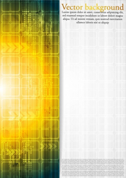 the brilliant dynamic technology background vector