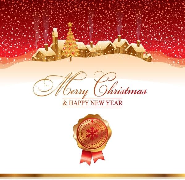 the cartoon christmas house background 04 vector