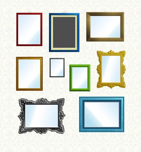 the colorful framework set psd layered
