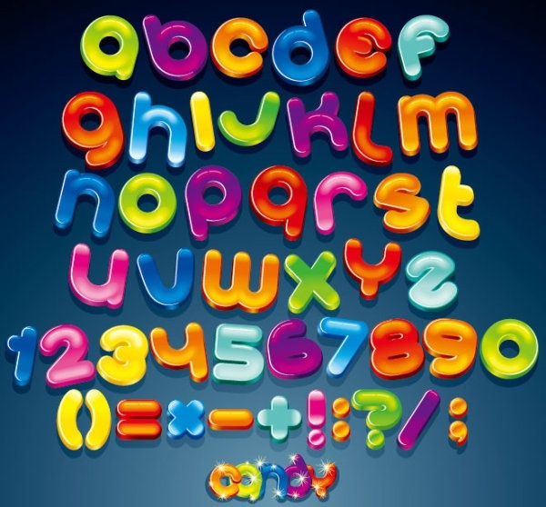 the creative letters designed 02 vector