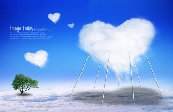 the creative love baiyun template layered