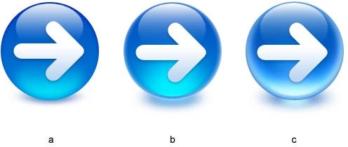 the crystal arrow buttons psd layered