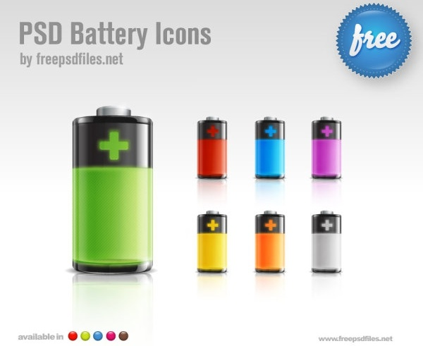 the delicate battery iconpsd layered