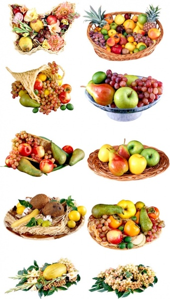 the delicious fruit fruit baskets png picture