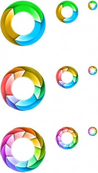 the dynamic rotating ring icon psd layered