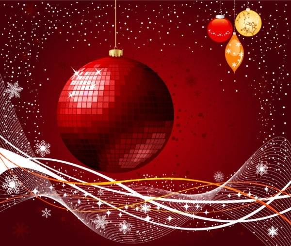 the exquisite christmas ball background 03 vector