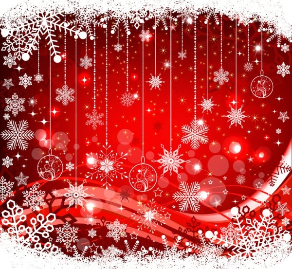 the exquisite christmas ball background 05 vector