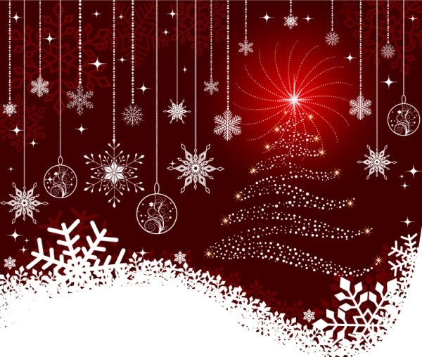 the exquisite christmas ball background 06 vector