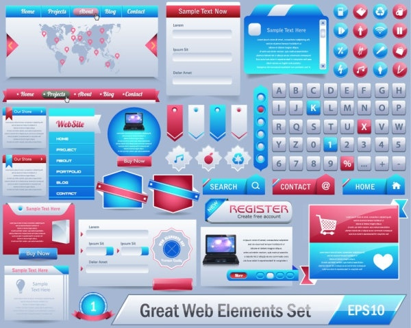 the exquisite page elements vector