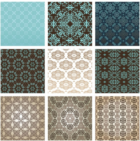 the exquisite pattern background pattern 01 vector