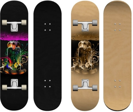 the exquisite patterns skateboard psd layered