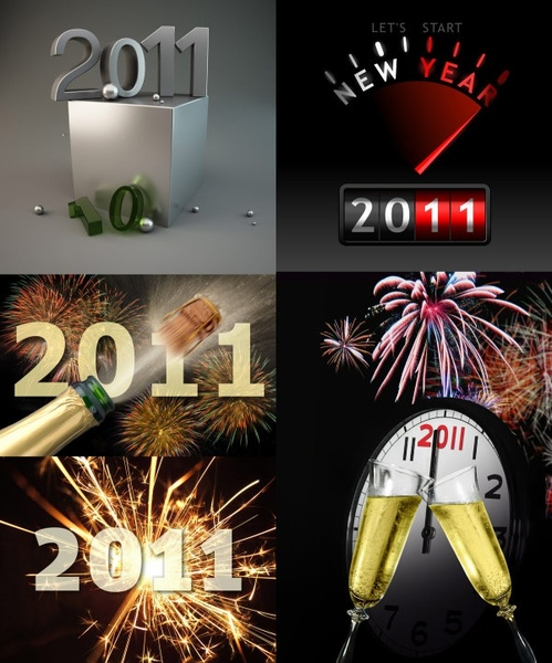 the exquisite threedimensional 2011 font design highdefinition picture