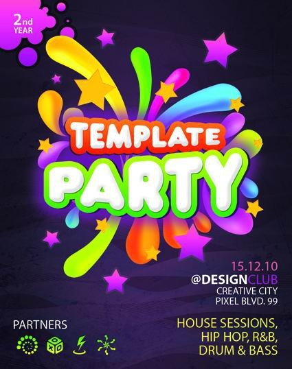 the fashion parties brochures psd