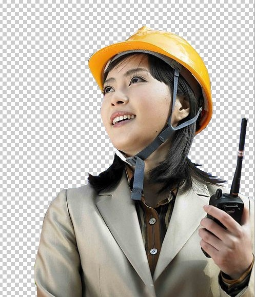 the female engineer psd layered
