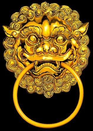 the gorgeous chinese gold steller knocker