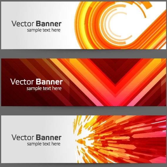 the gorgeous strip card 01 vector