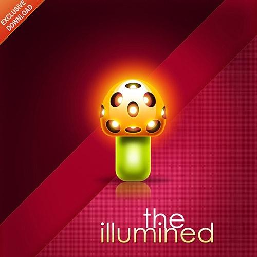 The illumined Mushroom Poster Free PSD