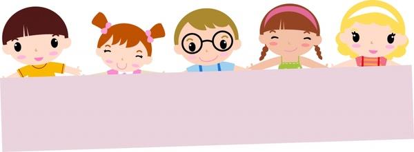 back to school background cute children blank board