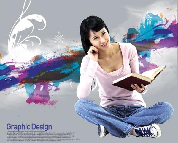 the korea design elements psd layered yi016