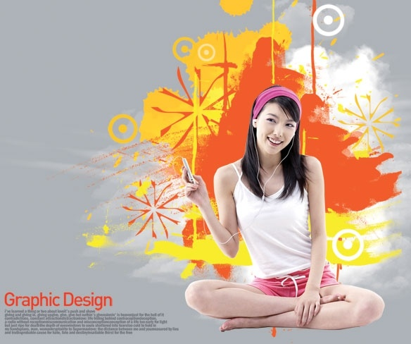 the korea design elements psd layered yi017