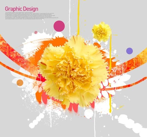 the korea design elements psd layered yi023