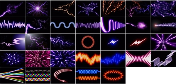 the lightning photoelectric highdefinition picture