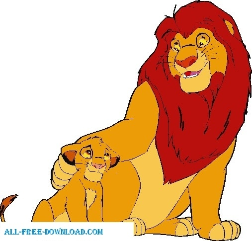 the lion king group005 free vector in encapsulated postscript eps