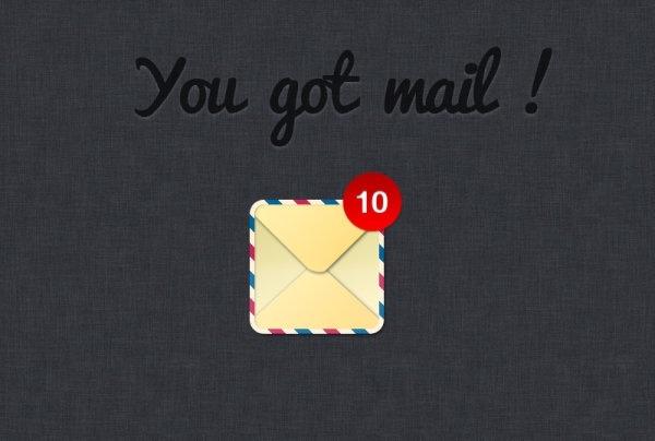 the mail web icon psd layered