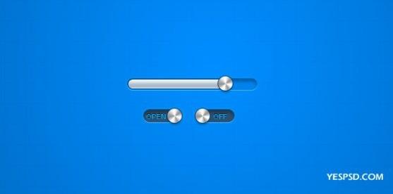 the metal texture progress bar button switch psd layered