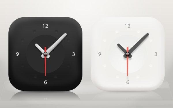 the minimalist clock icon psd layered