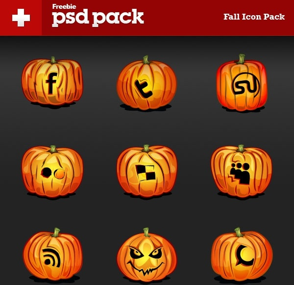 the pumpkin icon psd layered