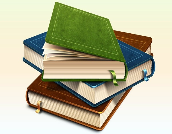 the realistic book iconpsd layered