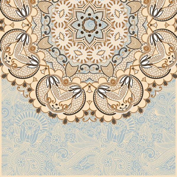 the retro classic pattern background 01 vector