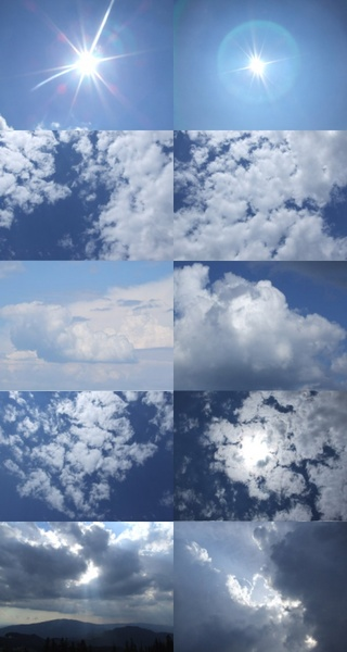 the second highdefinition picture of the blue sky and white clouds