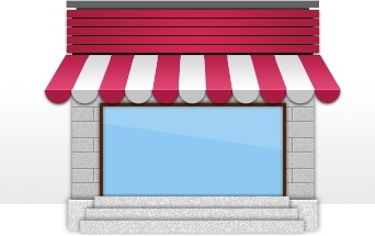 the small shops icon psd layered