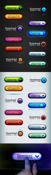 the stereo button icons psd