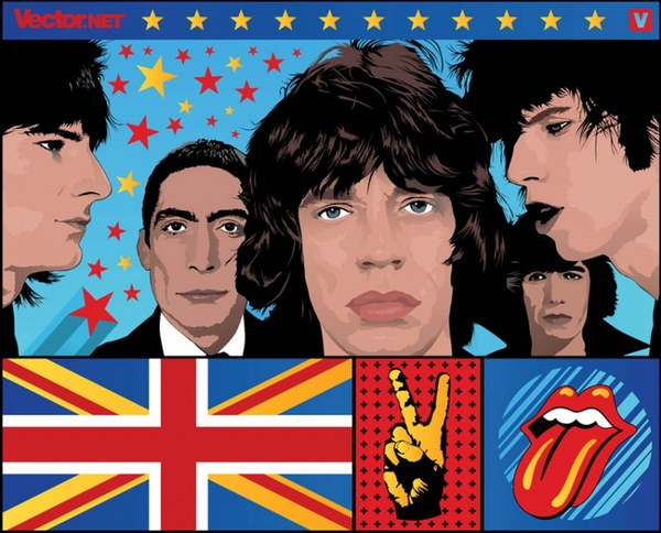 Rolling Stones Tongue With Flag Free Vector Download