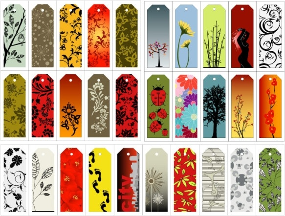 the tag number of beautiful background pattern vector
