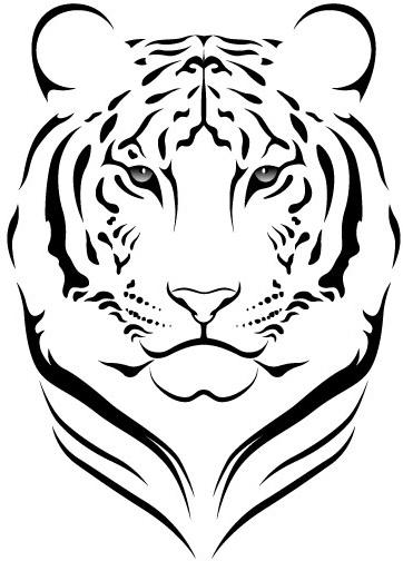 Tiger head svg free vector download (86,270 Free vector ...