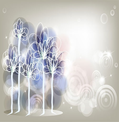 the trend of decorative painting background vector