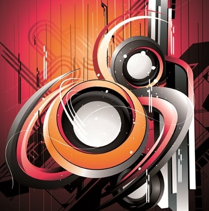 abstract technology theme 3d colorful curves style